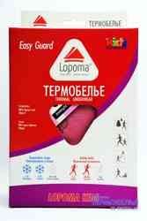 Изображение комплекта детского термобелья LOPOMA 1236 Easy Guard Girl в упаковке