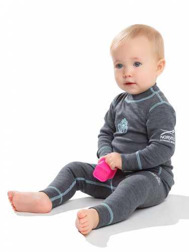 Малыш в термобелье Norveg Soft.